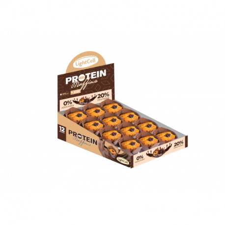 Caja Muffins con crema de chocolate sin azúcar