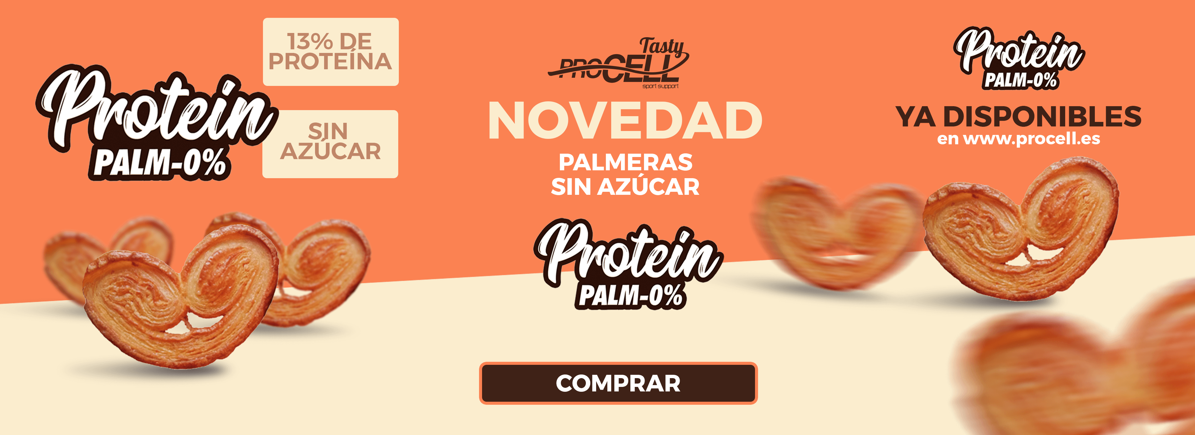 Palmeras fit proteicas Procell